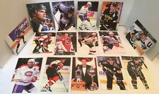 1998-99 Panini Oversize Card Lot Of 15 4x6 Cards Lindros Jagr Hasex Leetch & +++
