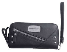 Harley-Davidson Women's Chain Gang Leather Wristlet w/ Strap - Black CG2390L-BLK