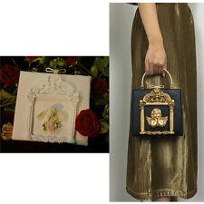 Luxury Designer Baroque Royal 3D Embossed Hand bag Runway Lady bag Purse