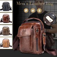 Men Vintage Genuine Leather Handbag Business Briefcase Messenger Shoulder Bag CY