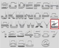 3D Chrombuchstabe / Chrom-Buchstabe - Z - selbstklebend - NEU & OVP