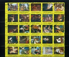 ART OF MANAMA ''famous painters,-souvenir sheet {25}   1972