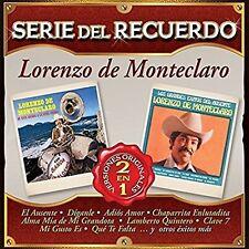 Lorenzo De Monteclaro Serie Del Recuerdo  CD New Nuevo