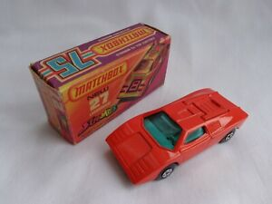 Matchbox Lesney Superfast No27 Lamborghini Countach VERY RARE PLAIN ORANGE-RED