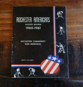 1960-61 ROCHESTER AMERICANS VS HERSHEY BEARS AHL AMERICAN HOCKEY LEAGUE PROGRAM