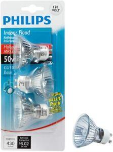 Philips Bulb Indoor Flood 50-Watt 430 Lumens 120 Volt GU10 Base 3PK 415794