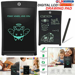 "8.5"" Electronic Digital LCD Writing Pad Tablet Drawing Graphics Board Notepad Uk"