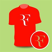 Roger Federer RF tennis PREMIUM QUALITY T shirt all sizes & colours FREEPOST UK