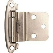 Self-Closing Cabinet Hinge, 1-1/2 In., 3/8 In. Inset, Satin Nickel, 10 Per Pack
