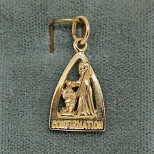 Confirmation Triangle Medal 10K Yellow Gold Pendant