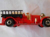1981 Vintage Hot Wheels Old Number 5 Fire Engine  Red Hong Kong Die-Cast Car