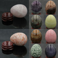 Wholesale Natural Gemstone Crystal Reiki Healing Sphere Yoni Massage Egg W/Stand