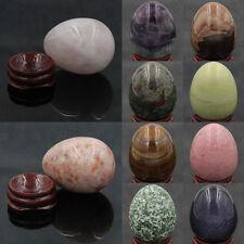 Wholesale Natural Gemstone Crystal Reiki Healing Sphere Yoni Massage Egg W/Stand