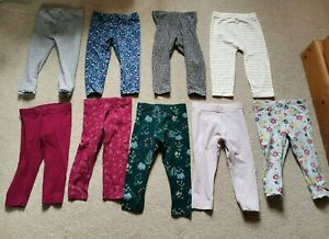 Baby Girls 9 x Leggings - 12-18 Months - Excellent Condition
