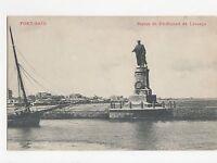 Egypt, Port Said, Stue de Ferdinand de Lesseps Postcard, A555