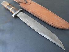Custom Damascus Survival Tracker Knives Bear Skinner Hunter A11