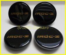 85 86 87 CAMARO IROC-Z IROC WHEEL CENTER CAP GOLD AND BLACK NEW SET OF 4