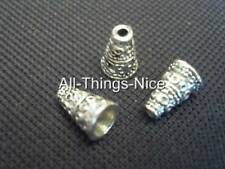 Silver Plated 10mm CONE CAPS Cord End Beads Jewellery Making Craft Findings 50