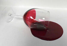 FAKE FOOD GLASS OF SPILLED RED WINE GREAT GAG GIFT