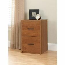 2 Drawer File Cabinet Filing Office Storage Furniture Brown Wood 2drawer Home