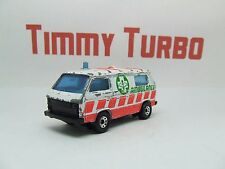 MATCHBOX VW VOLKSWAGEN T 25 TRANSPORTER AMBULANCE 1987 75 MM LONG DIECAST