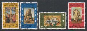 St Kitts-Nevis - 1977, Easter set - F/U - SG 370/3