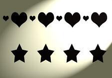 Shabby Chic STENCIL LOVE CUORI STELLE ripetibili 2 su 1 Foglio muro a4 297x210mm