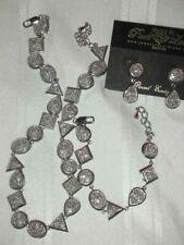 Park Lane Necklace - Earrings - Bracelet - CLEAR STONES PARURE SET