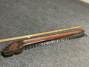 """Vintage Reed 24"""" Chain Pipe Wrench No. WA24 3"""" Capacity"""