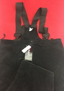 NEW US MILITARY POLARTEC Black Fleece Cold Weather Overalls X-Large Short