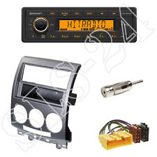 Continental TR7412UB-OR Radio + Mazda 5 Bj. 2006-11 Blende silber + ISO Adapter
