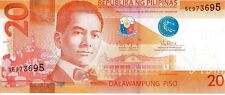 PHILIPPINES 2013 20 PISO CURRENCY UNC