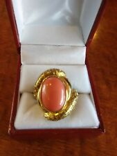 18kt Gold Coral Ring