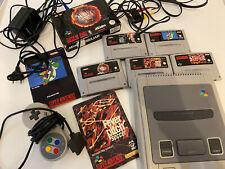 Super Nintendo + fünf Spiele - Gebraucht - Street Fighter II