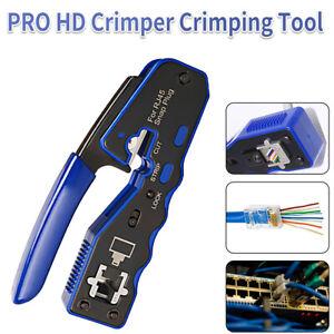 RJ45 EZ Crimper Cat5e 6 7 HD Pass Through Network Connector Crimping LAN Tool AU