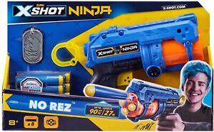 New Zuru X-Shot Ninja No Rez Dart Blaster Toy Gun With Dog Tag Missing Darts