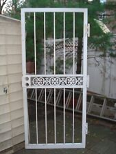 Outdoor steel security gate