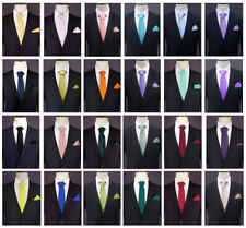 TIE | POCKET SQUARE SET | handkerchief hanky necktie men's mens | CHOOSE COLOUR