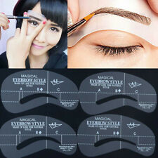 24 Styles Eyebrow Shaper Grooming Stencil Kit Template Make Up Shaping Tools- Ca