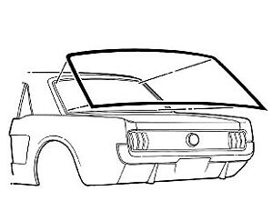 Rear Window Weatherstrip(Coupe)-65-68 Mustang
