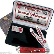 Licensed Case Alabama Crimson Tide 2015 National Champions Commemorative Knife