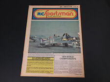 VERY COLLECTIBLE MARCH 1979 R/C SPORTSMAN NEWS MAGAZINE W/PLANE PLANS *G-COND*