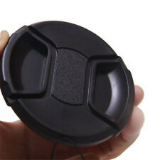 52mm Center Pinch Snap Front Lens Cap Cover for Nikon Canon Sony with String