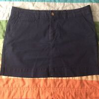 Old Navy Dark Navy Blue Polka Dot Print Skirt Size 8 Mini A331