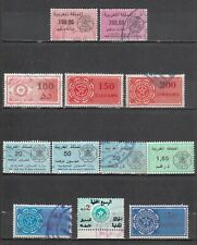 MOROCCO   LOT OF 12  REVENUE STAMPS