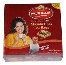 Wagh Bakri Tea - Natural Masala Chai Bags  100 Tea Bags Free shipping