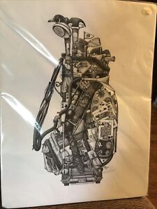 """Don Stewart """"King of Clubs"""" Golf Bag art print 12x16 Signed Ready To Frame 1994"""