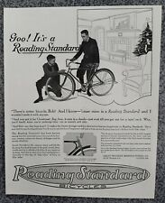 VINTAGE 1919 READING STANDARD BICYCLES 100 YEAR OLD ADVERTISEMENT