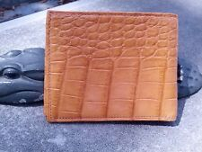 Wild Alligator Bifold Bi Fold Wallet Credit Hipster gator Belly Hide Swamp M30