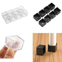 Square Table Chair Leg Caps Floor Protectors Plastic Home Tool Accessories Set